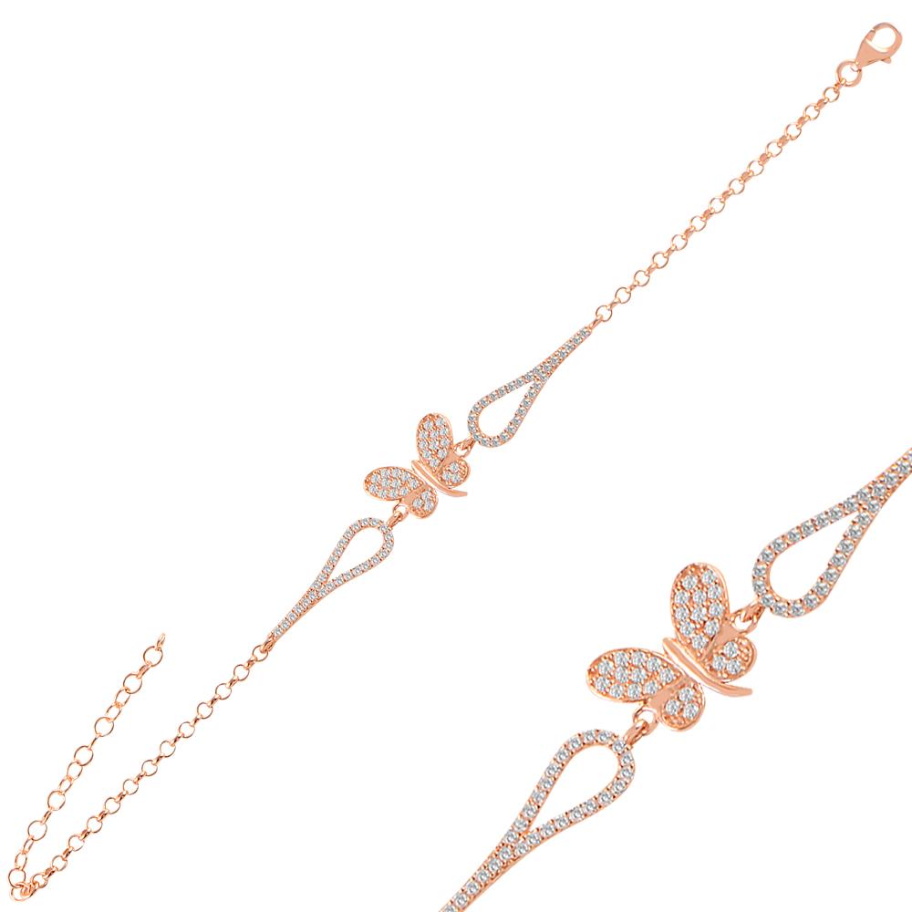 925 Ayar Gümüş Kelepçeli Uçan Kelebek Bileklik