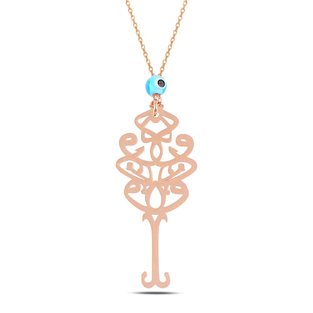 925 ayar gümüş roze gold( seven sevilen)anlamına gelen kolye