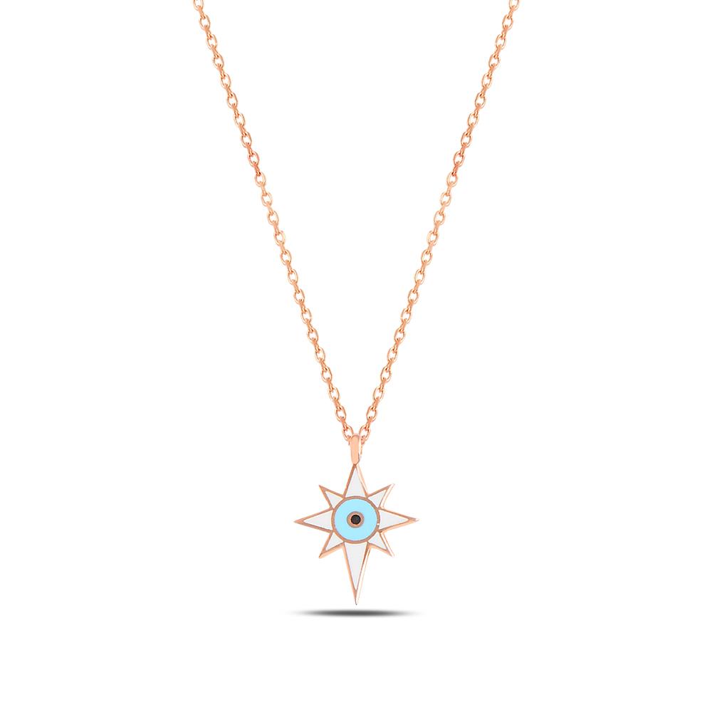 925 ayar gümüş mineli minimal kuzey yıldızı kolye