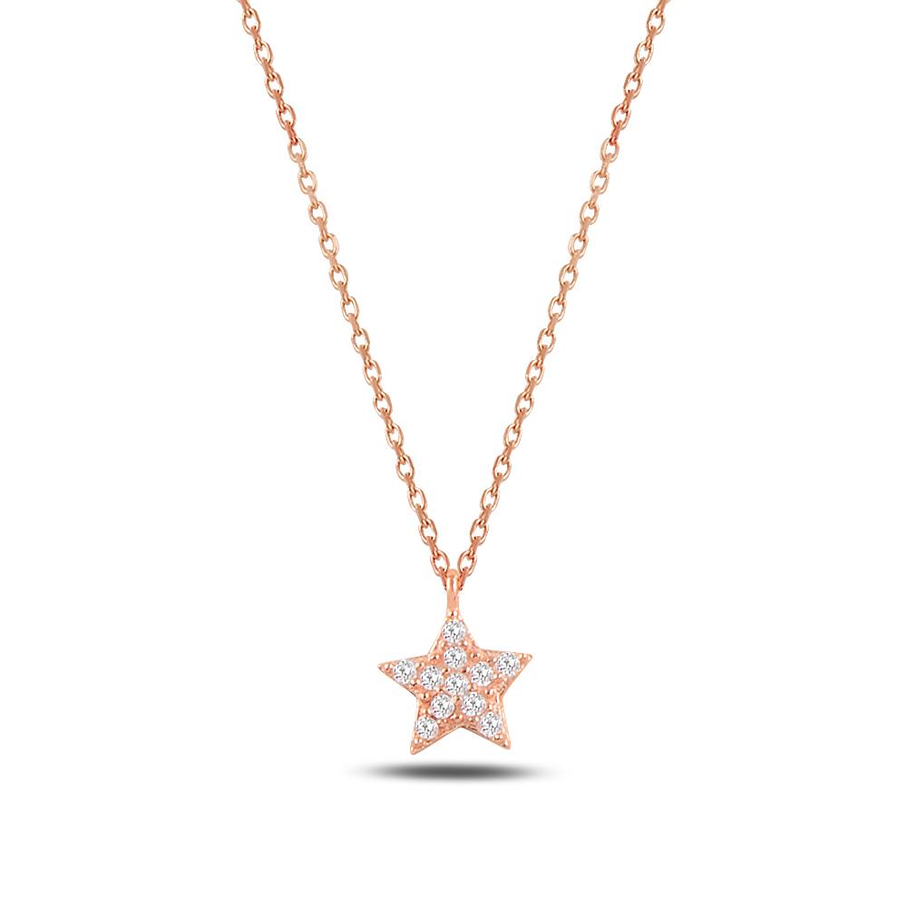 925 Ayar Gümüş Minimal Yıldız Kolye