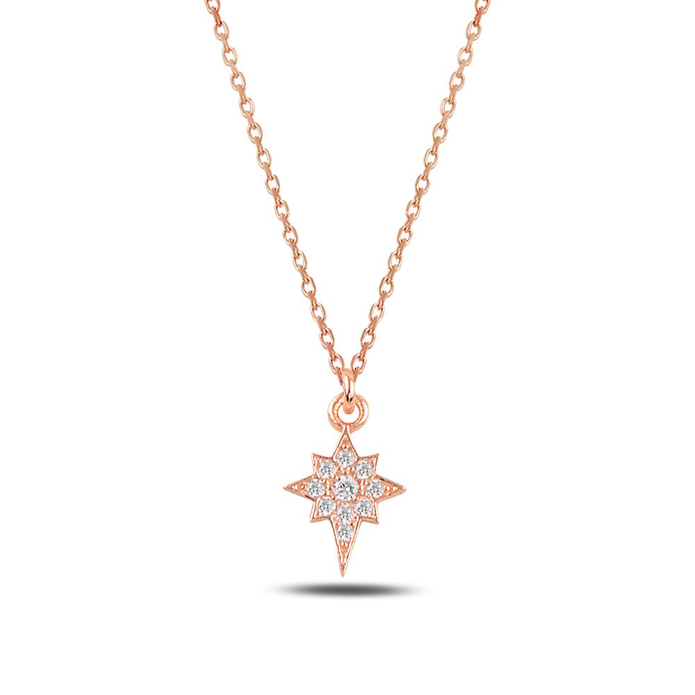 925 Ayar Gümüş Minimal Kuzey Yıldızı Kolye