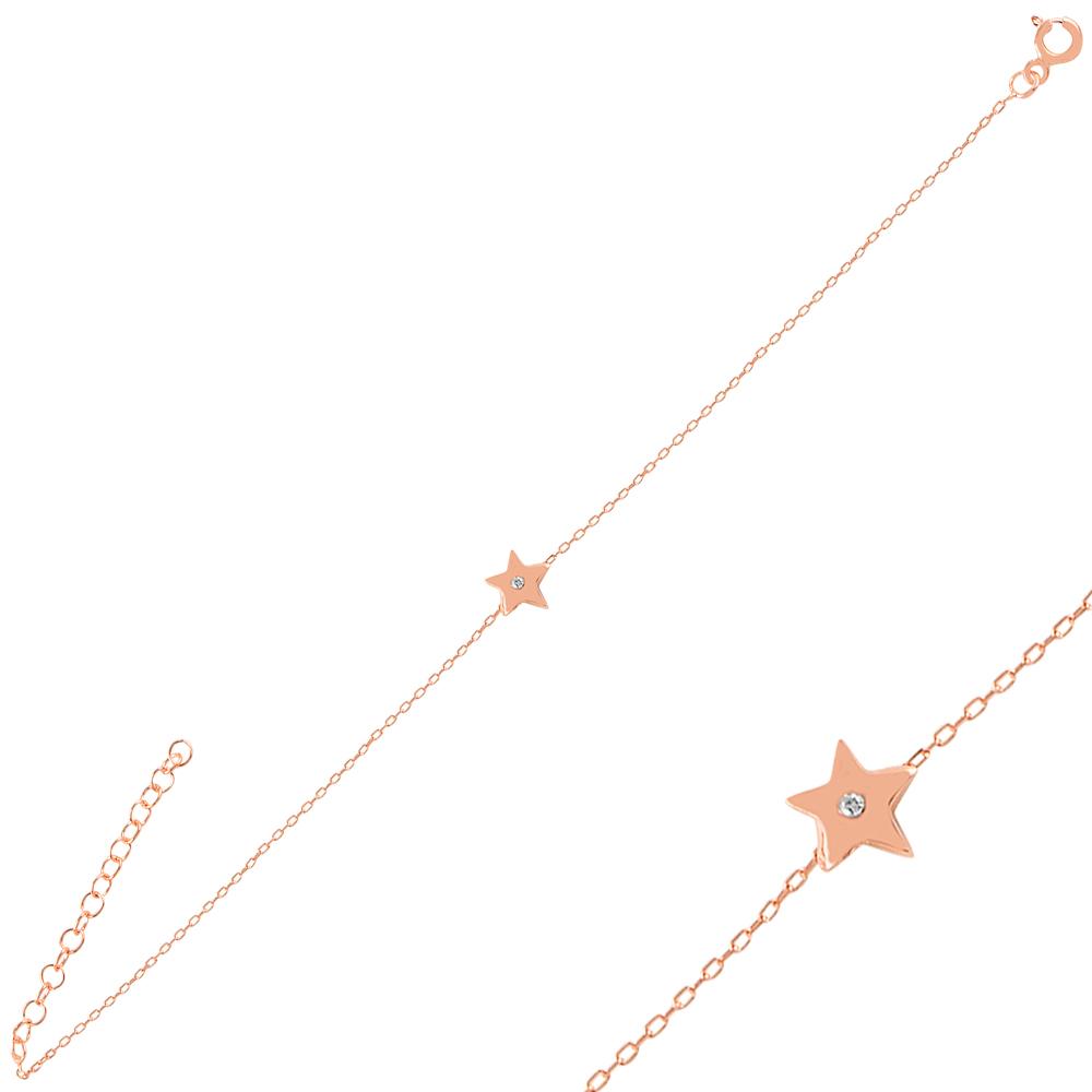 925 Ayar Gümüş Minimal Yıldız Bileklik