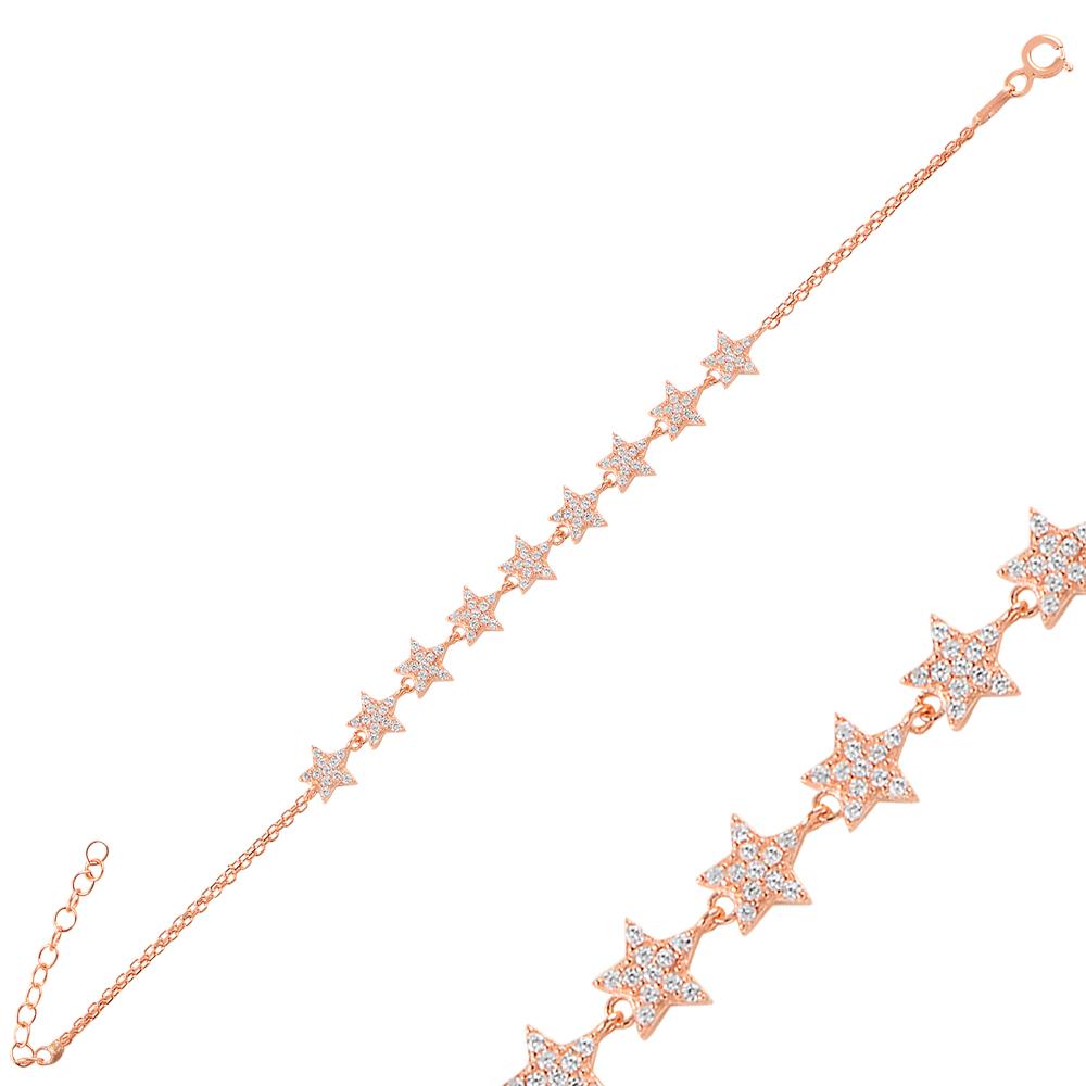 925 Ayar Gümüş Çoklu Yıldız Bileklik