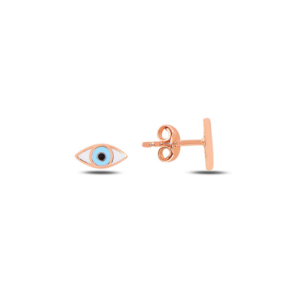 925 Ayar Gümüş Mineli Göz Küpe
