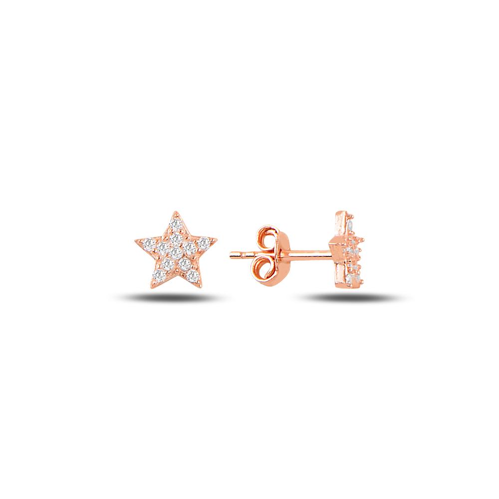 925 Ayar Gümüş Minimal Yıldız Küpe