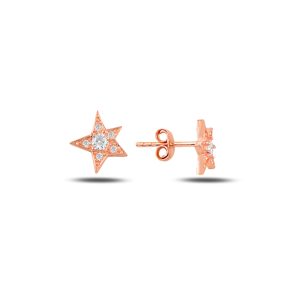 925 Ayar Tektaş Yıldız Küpe
