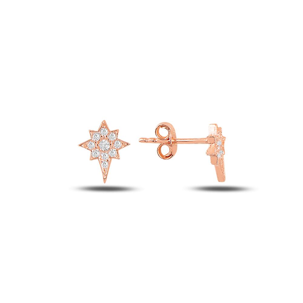 925 Ayar Kuzey Yıldızı Gümüş Küpe